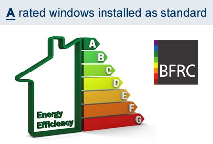 A Rated windows installed as standard